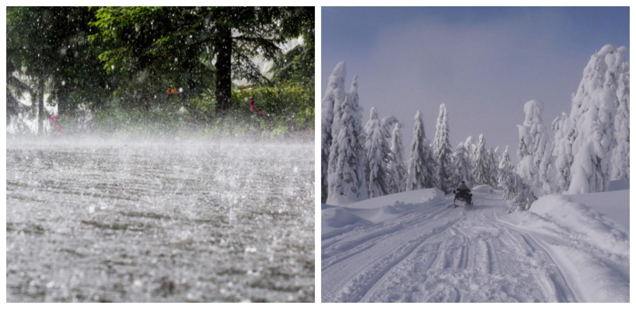 Nouă avertizare de vreme rea din partea ANM. Cod galben de ninsori abundente și ploi