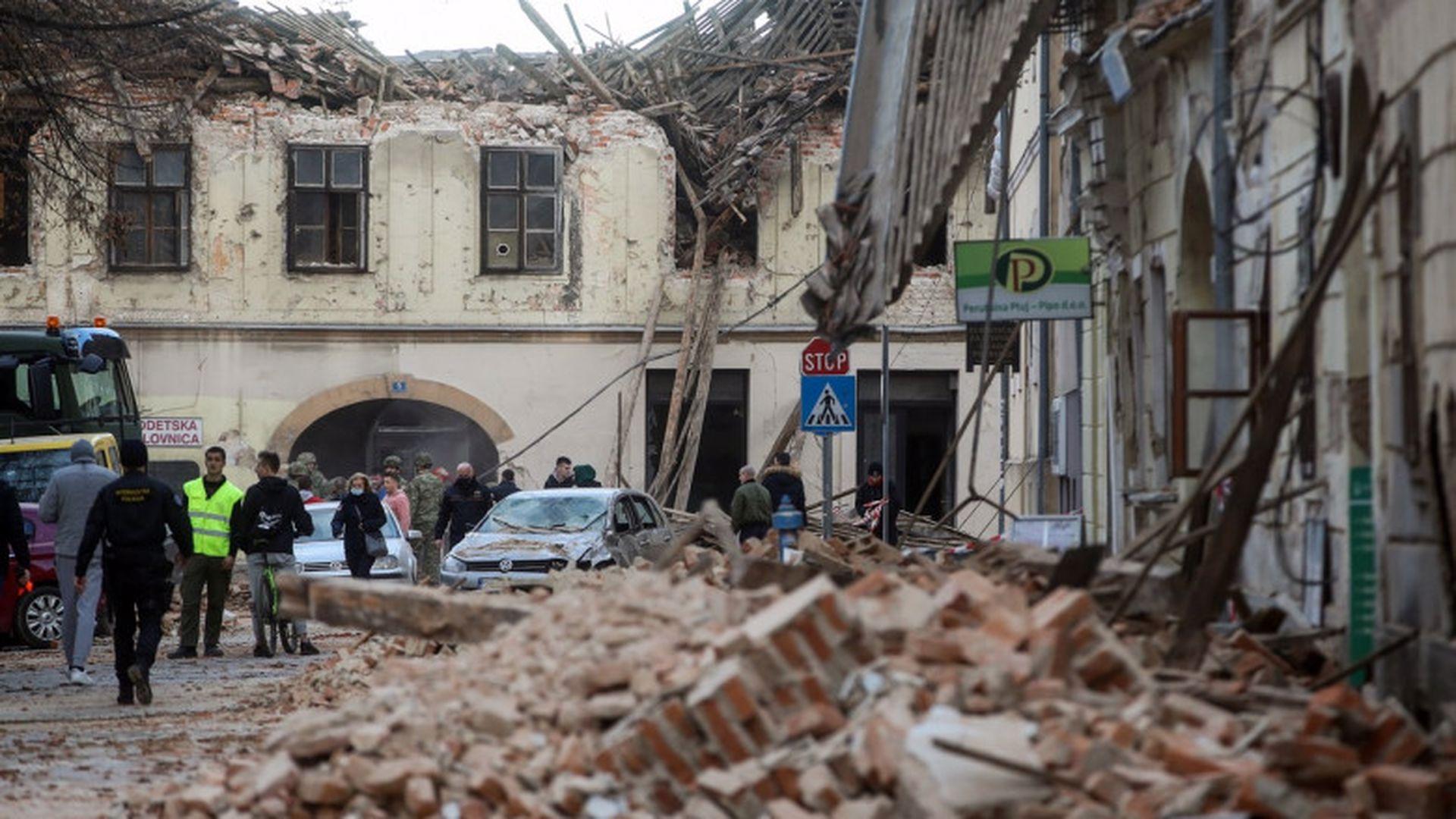 Tragedie de proporții! Un alt cutremur zguduie Croația
