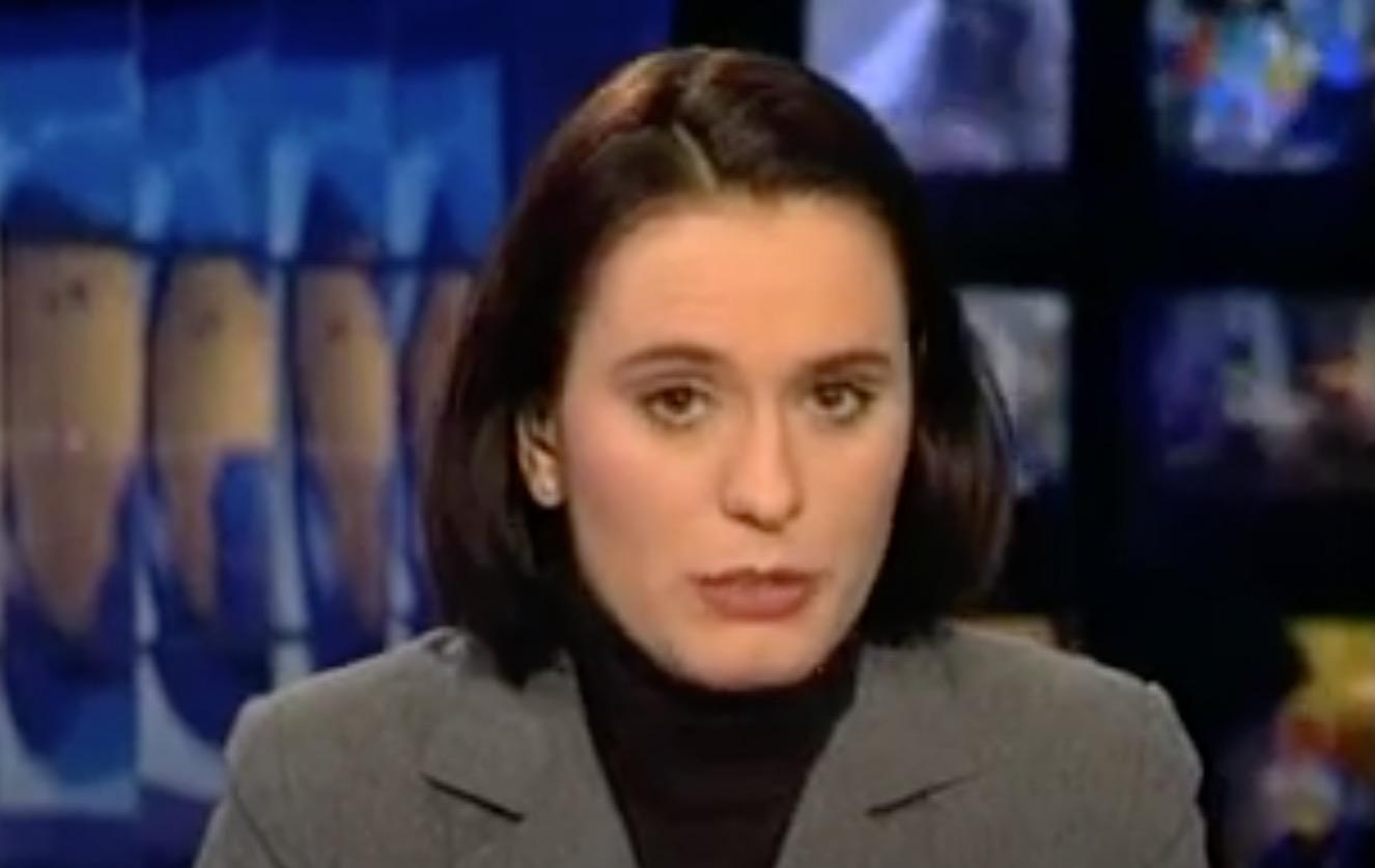 Andreea Esca baricadată cu garduri de fier în sediul Pro TV în timpul mineriadei din 1999