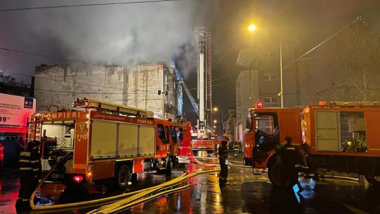 Incendiu în București 7 februarie: intervin 11 autospeciale