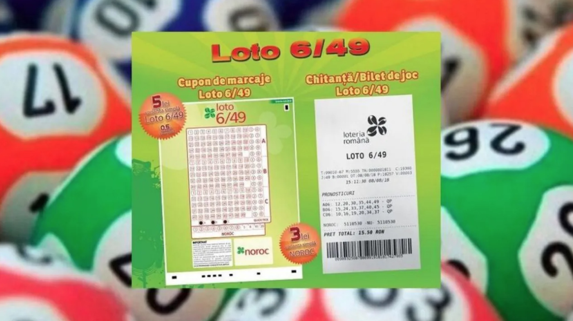 Loto, duminică, 22 august. Report la Joker, 6 milioane de euro, iar la 6/49 peste 1 milion lei
